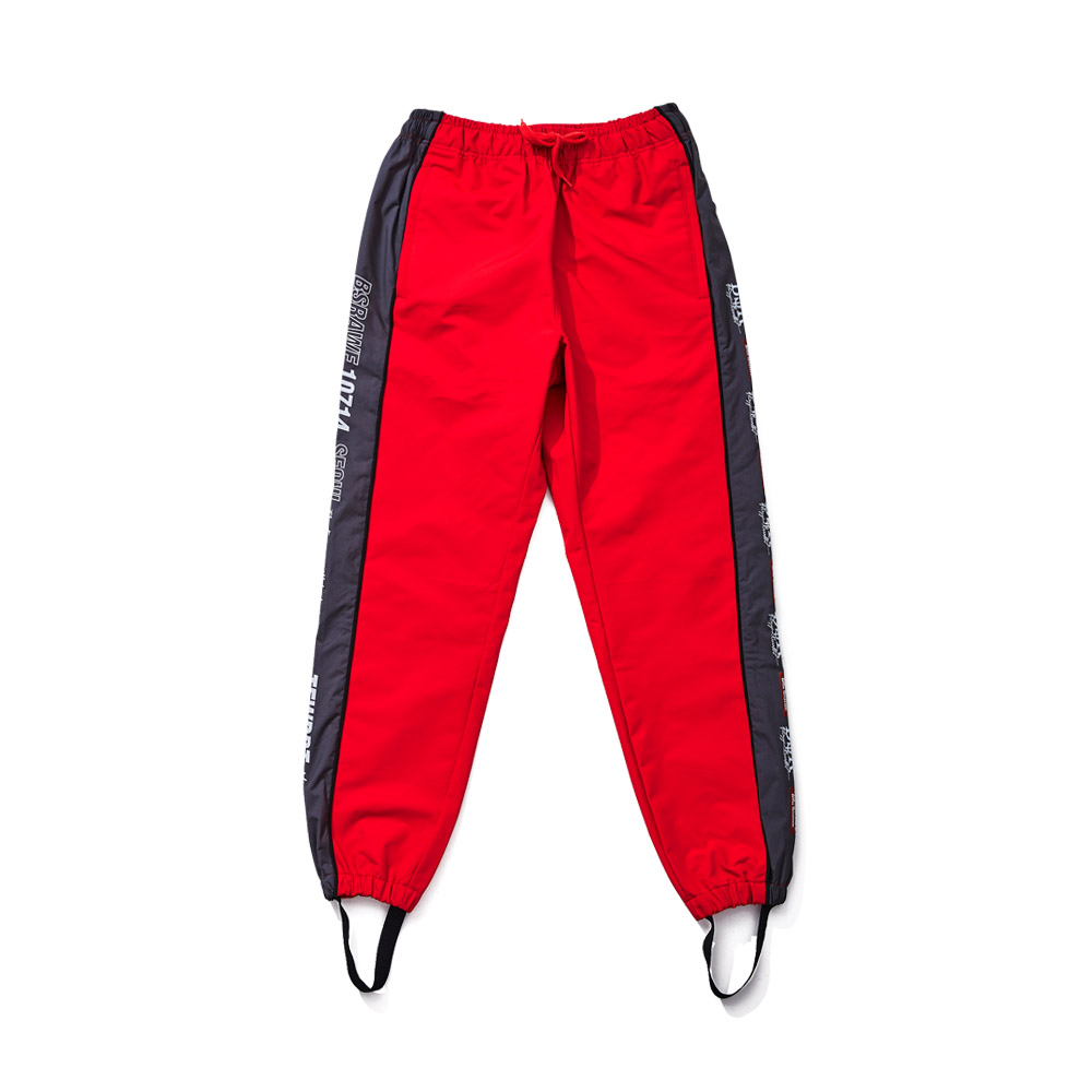 BSRABBIT BSR WATERPROOF JOGGER PANTS RED