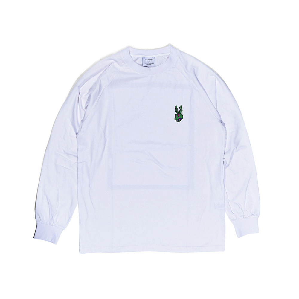 BSRABBIT TRIPPY LONG SLEEVE WHITE