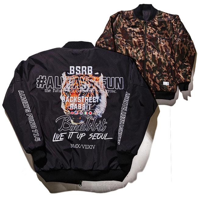 Unrivalled Stadium Jacket BLACK/CAMO [11월28일 발송]