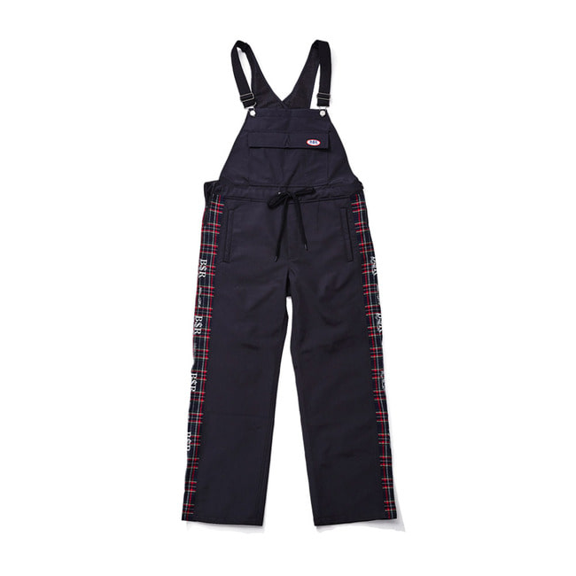BSRABBIT BSR WATERPROOF OVERALL TRACK PANTS BLACK