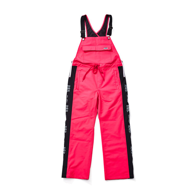 BSRABBIT BSR WATERPROOF OVERALL TRACK PANTS HOTPINK