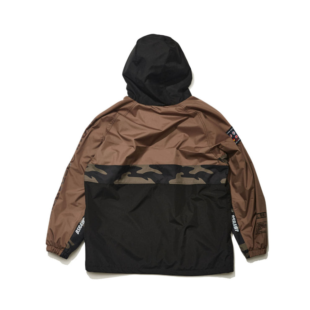 BSRABBIT BSR RUN ANORAK KHAKI/BLACK