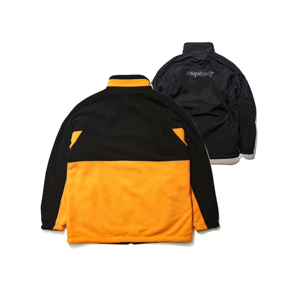 BSRABBIT TOASTY FLEECE REVERSIBLE JACKET BLACK/BLACK