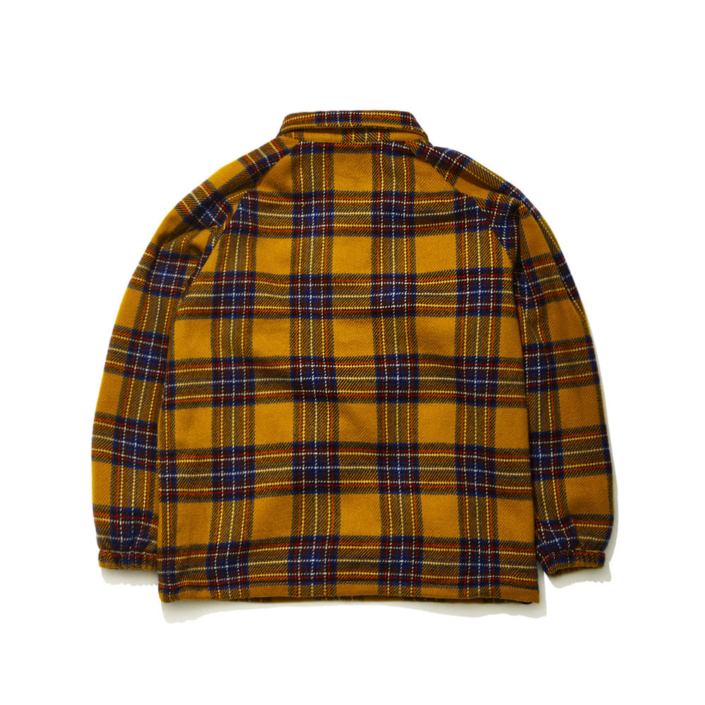 BSRABBIT BETTER CHECK ANORAK SHIRT YELLOW CHECK