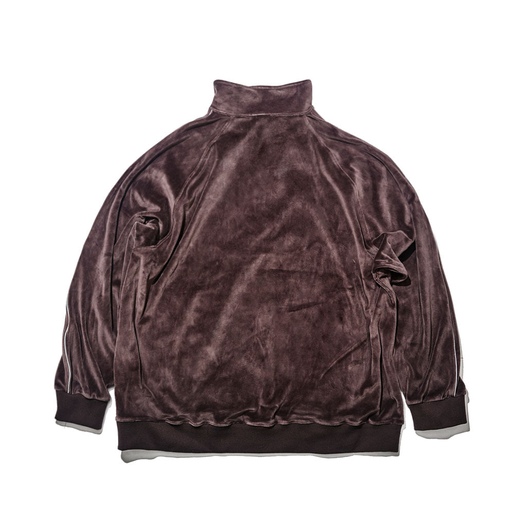 BSRABBIT BSR VELOUR TRACK TOP CHARCOAL