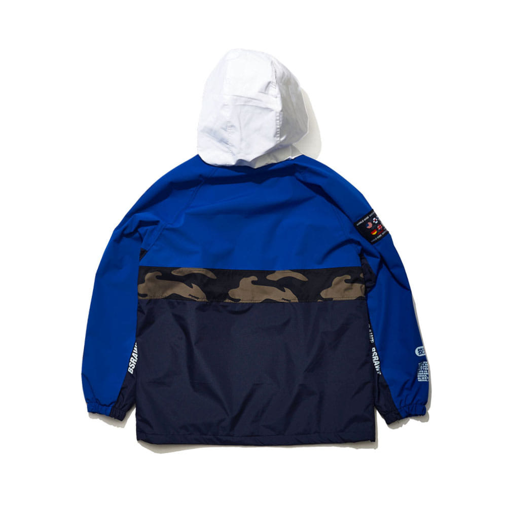 BSRABBIT BSR RUN ANORAK BLUE/NAVY