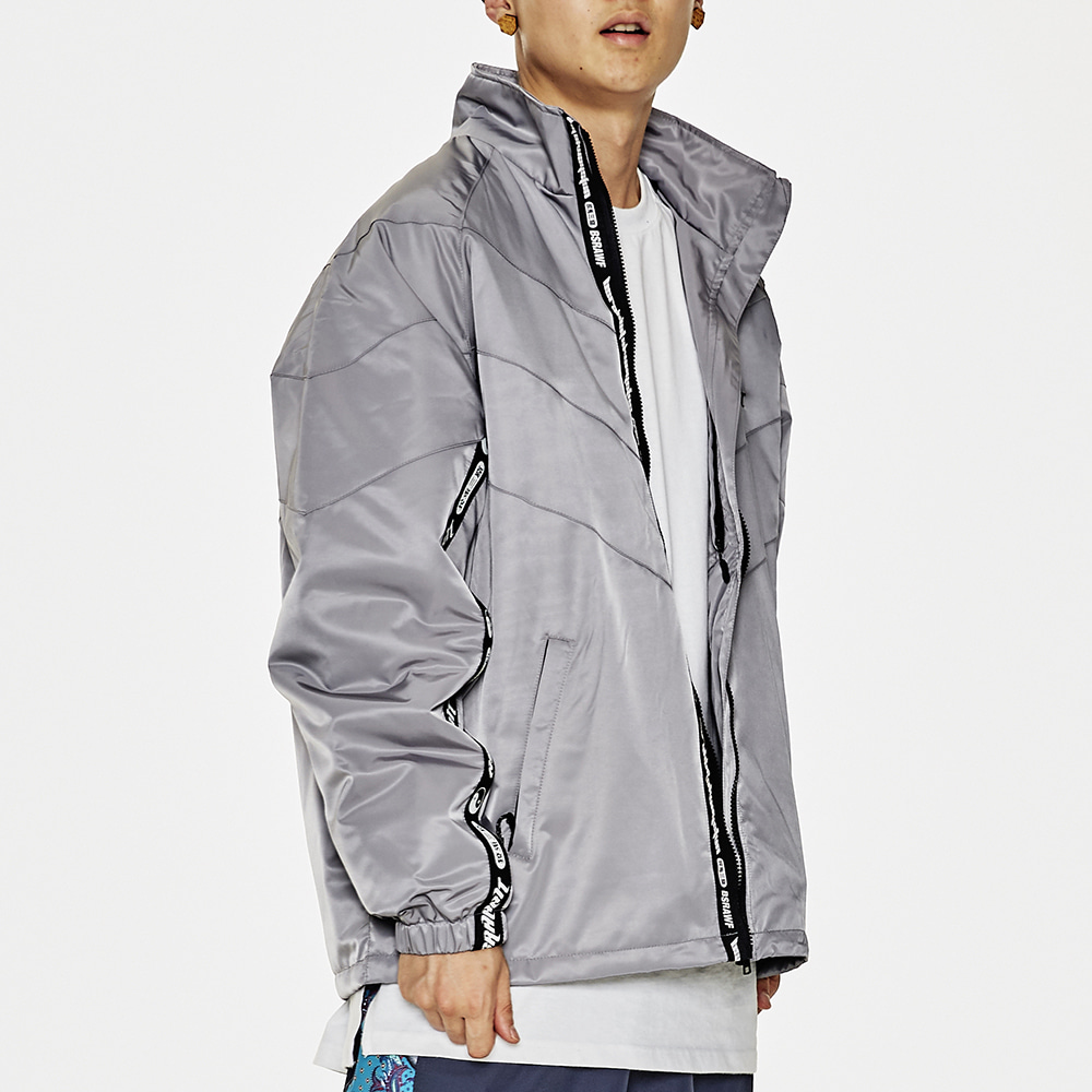 BSRABBIT RELAXED TRACK JACKET GRAY