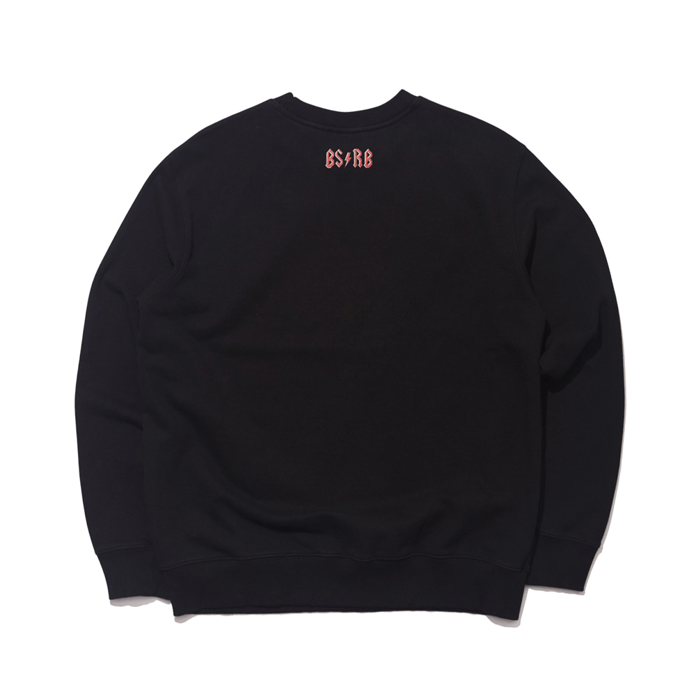 자체브랜드 BSRB WELCOME DRY SWEAT SHIRT BLACK