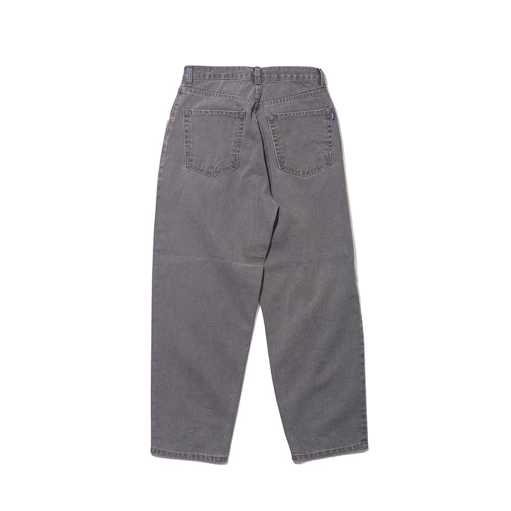 자체브랜드 BS MID90S LOOSE FIT BAGGY DENIM PANTS  LIGHTGRAY