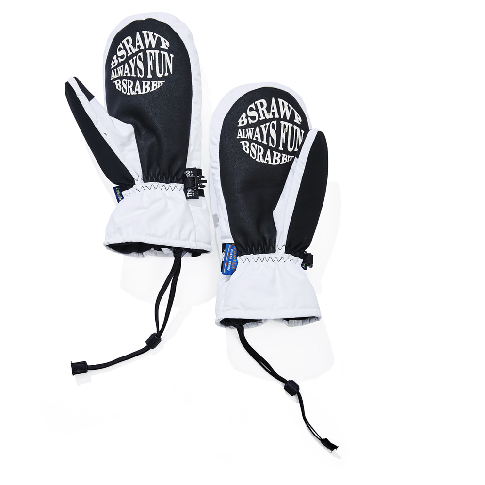 자체브랜드 TRIPPY RB SNOWBOARD GLOVE WHITE
