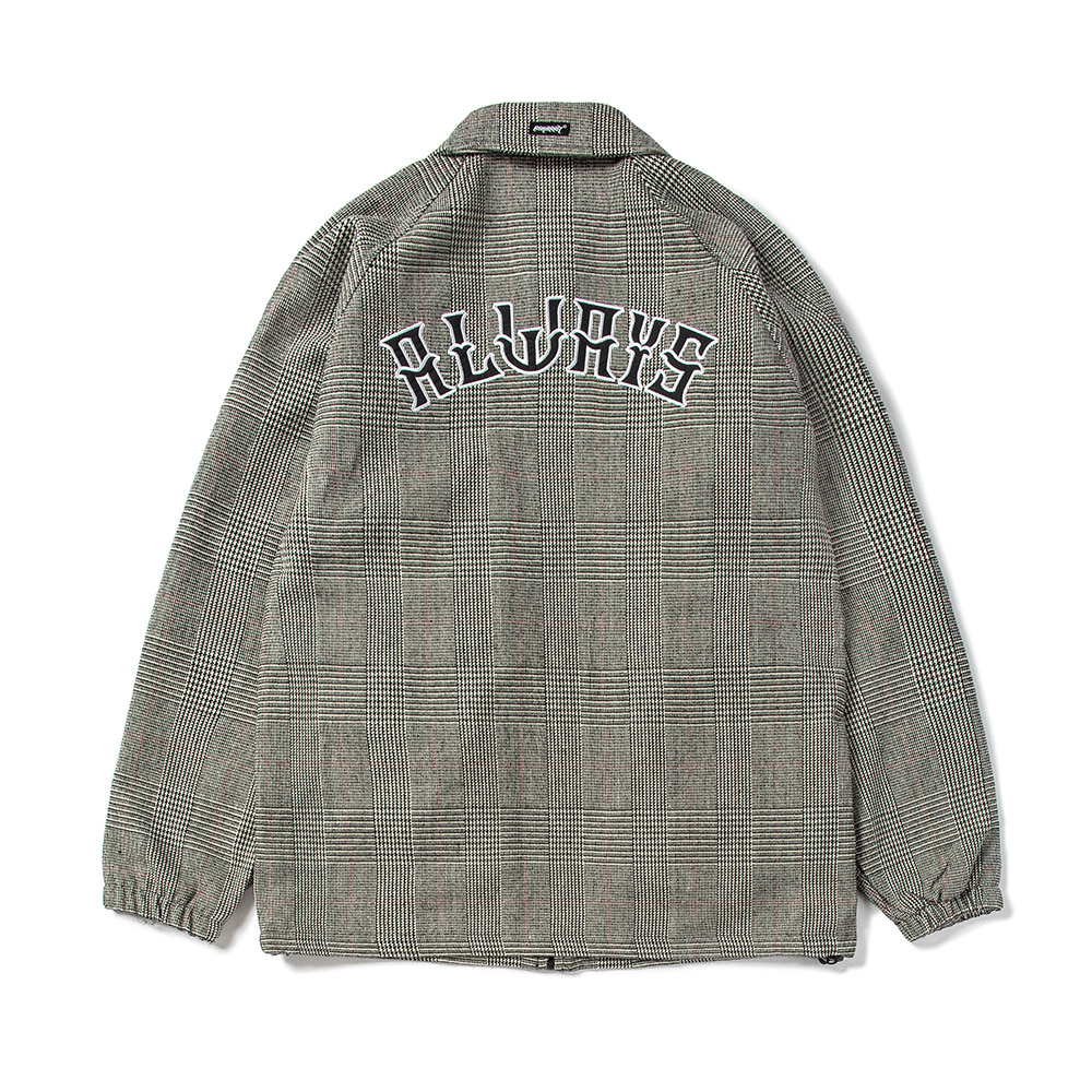 자체브랜드 ALWAYS COACH JACKET CHECK GRAY