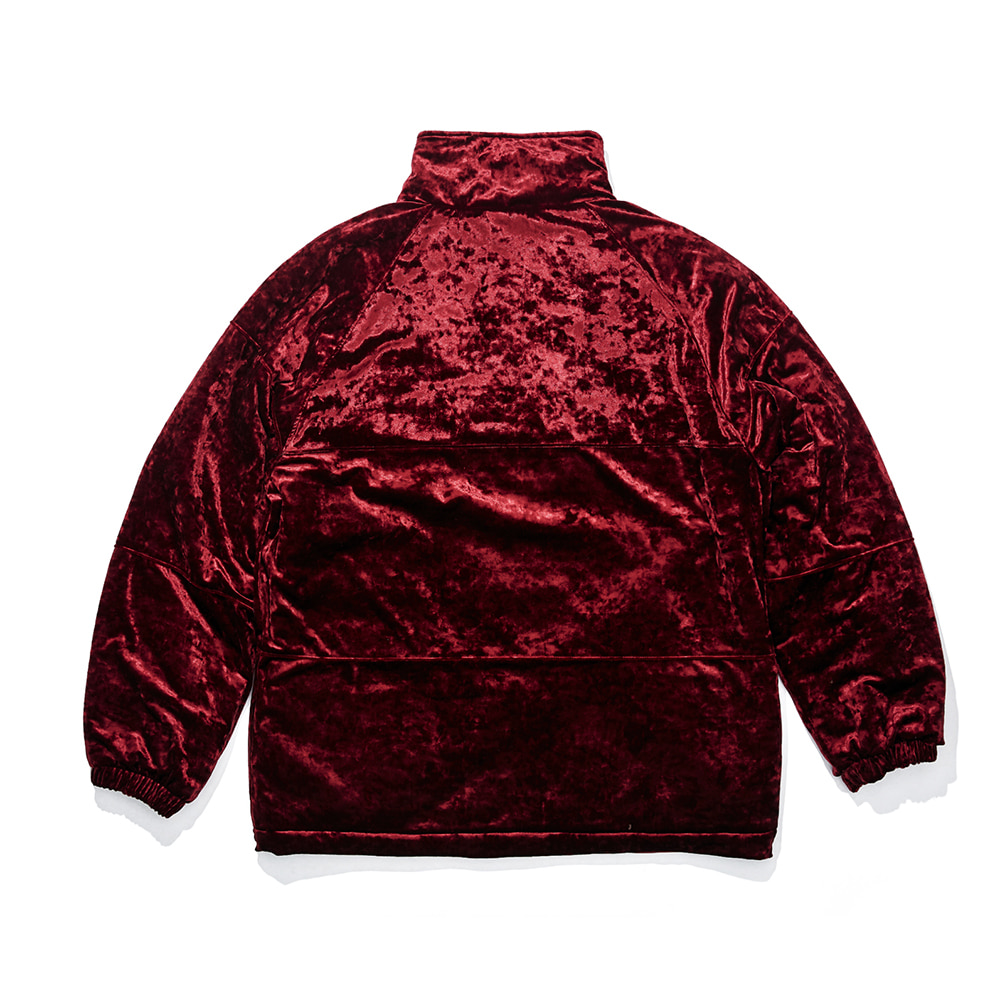 자체브랜드 DSXBR BLING VELVET PUFFER JACKET RED
