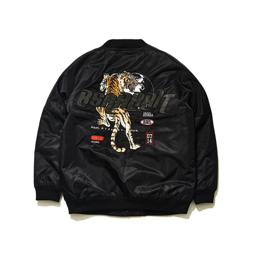 BSRABBIT BSR TIGER STARDIUM JACKET BLACK