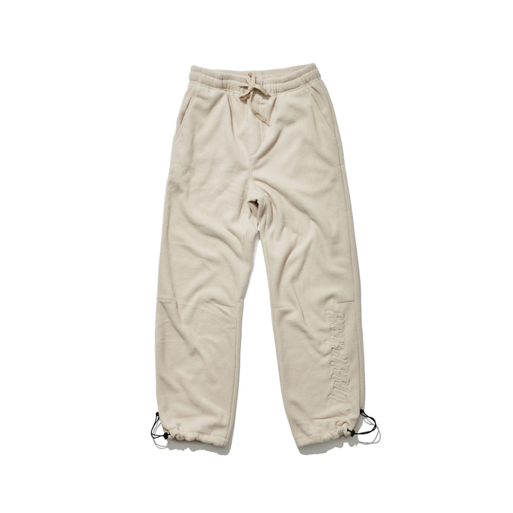 BSRABBIT BSR FLEECE TRACK PANTS BEIGE
