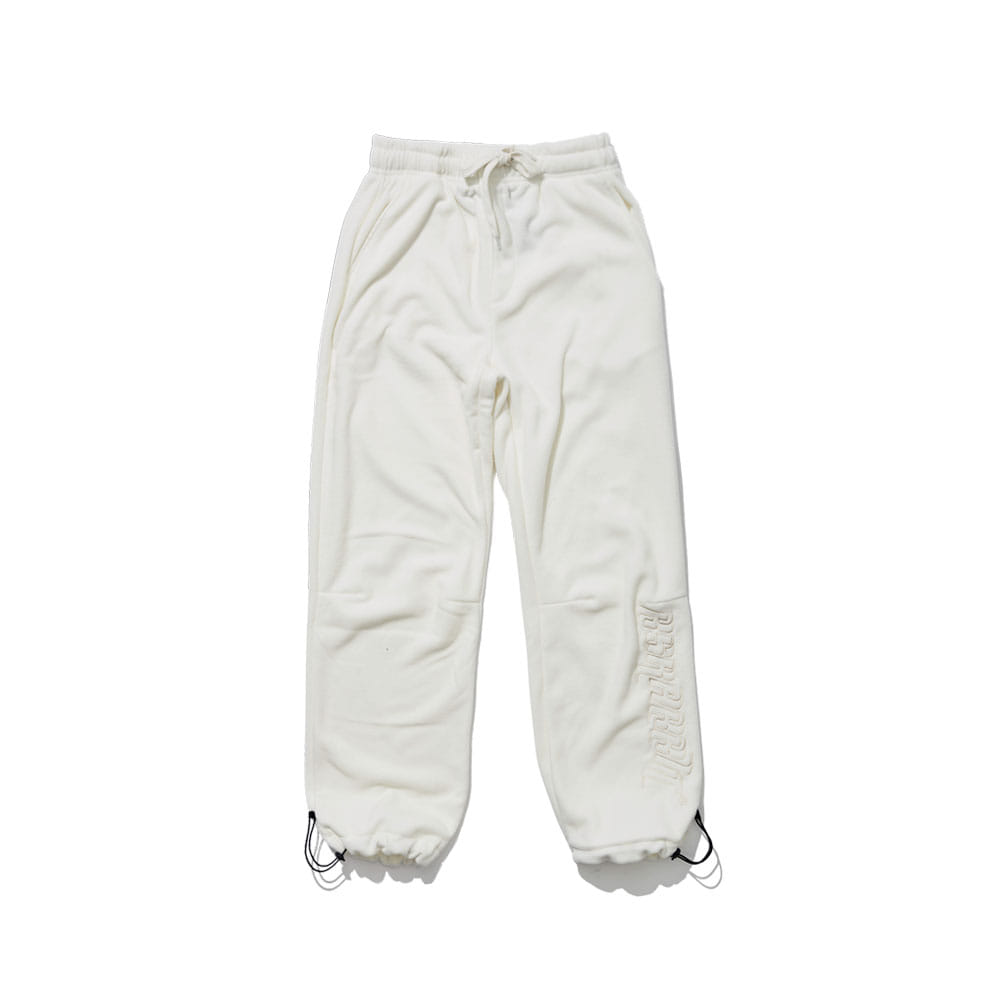 BSRABBIT BSR FLEECE TRACK PANTS WHITE