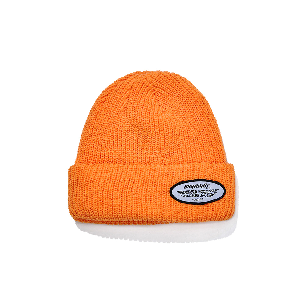 자체브랜드 WEWE WAPPEN BEANIE ORANGE