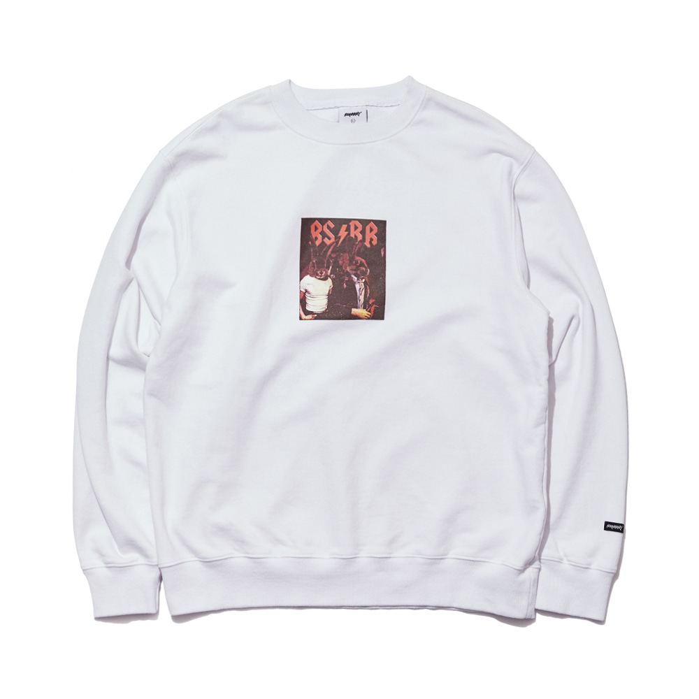 자체브랜드 BSRB WELCOME DRY SWEAT SHIRT WHITE