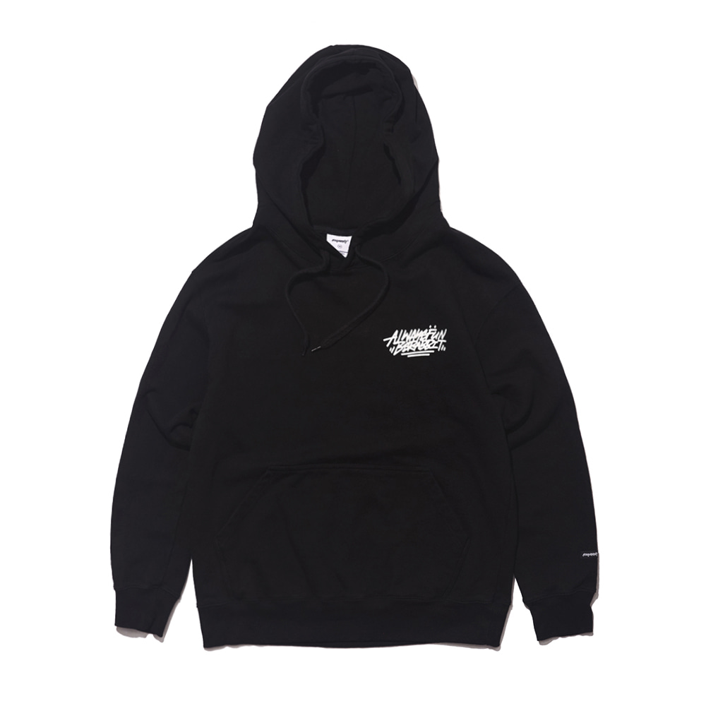 자체브랜드 [기모옵션추가]ALWAYS BEAR RABBIT WELCOME DRY HOODIE BLACK