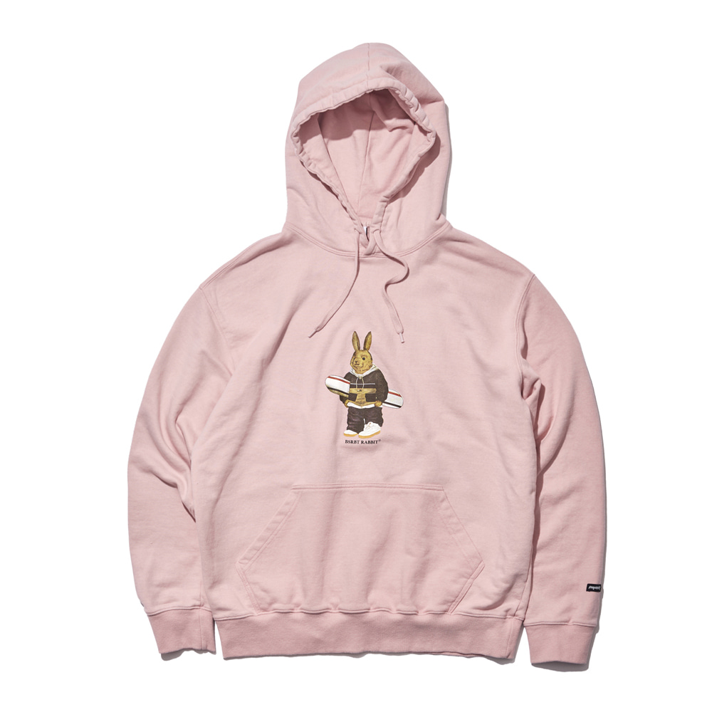 자체브랜드 [기모옵션추가]ALWAYS BEAR RABBIT WELCOME DRY HOODIE INDY PINK