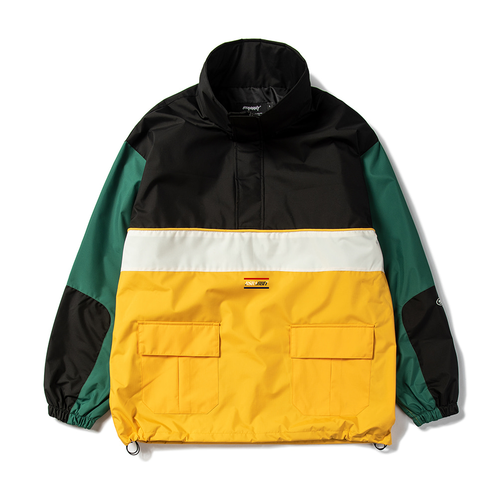 자체브랜드 RTR ANORAK JACKET B/YELLOW