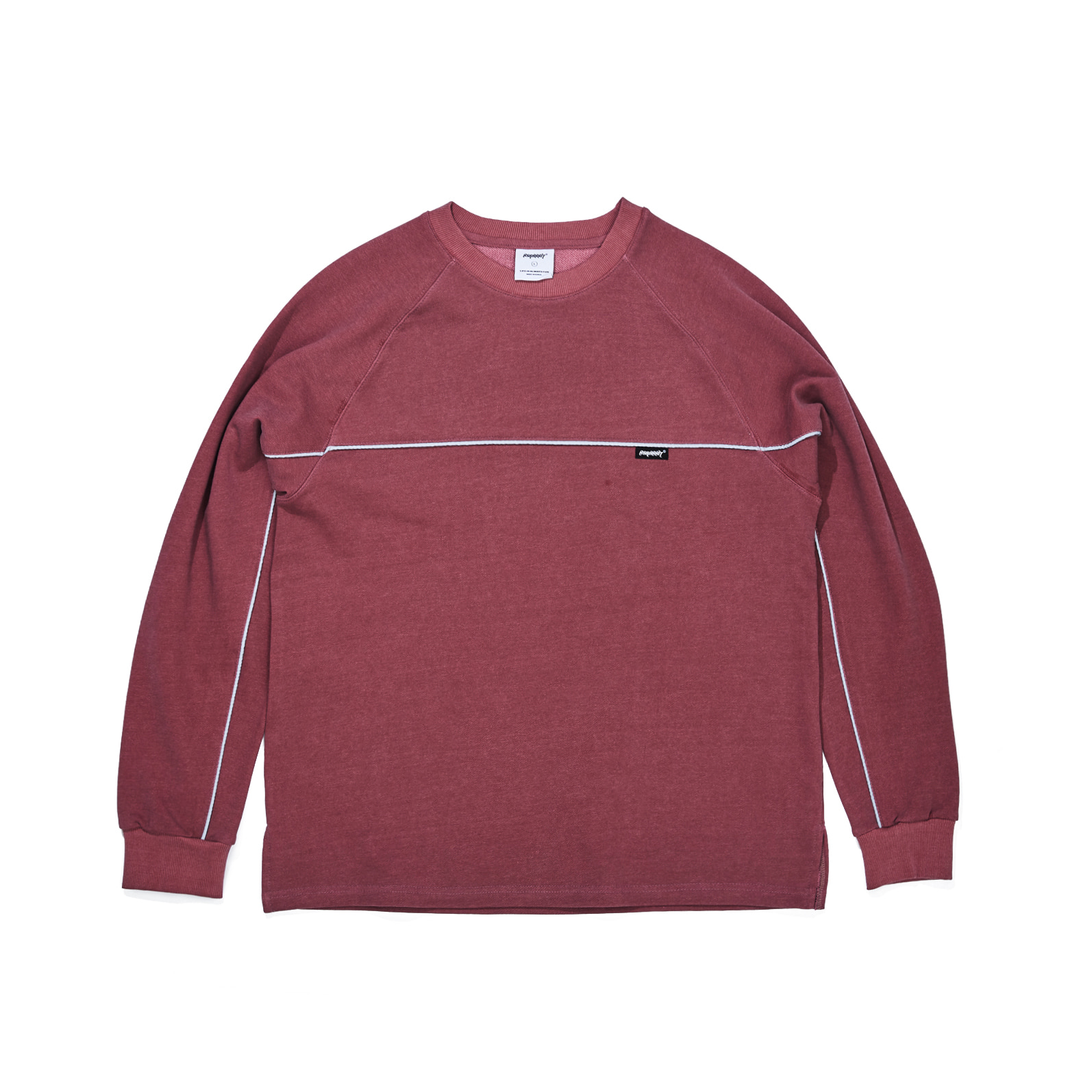 자체브랜드 LINE WASHING CREWNECK BURGUNDY