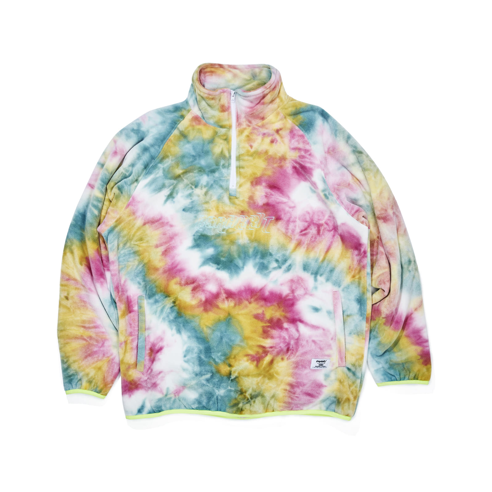 자체브랜드 LOGO FLEECE HN ZIPUP TIE DYE YELLOW / MINT