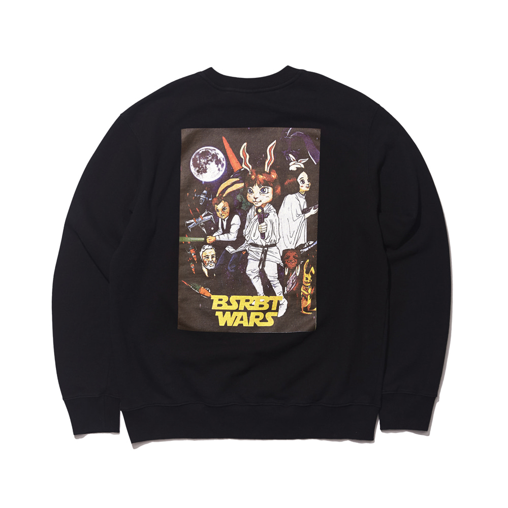 자체브랜드 RABBIT WARS WELCOME DRY SWEAT SHIRT BLACK