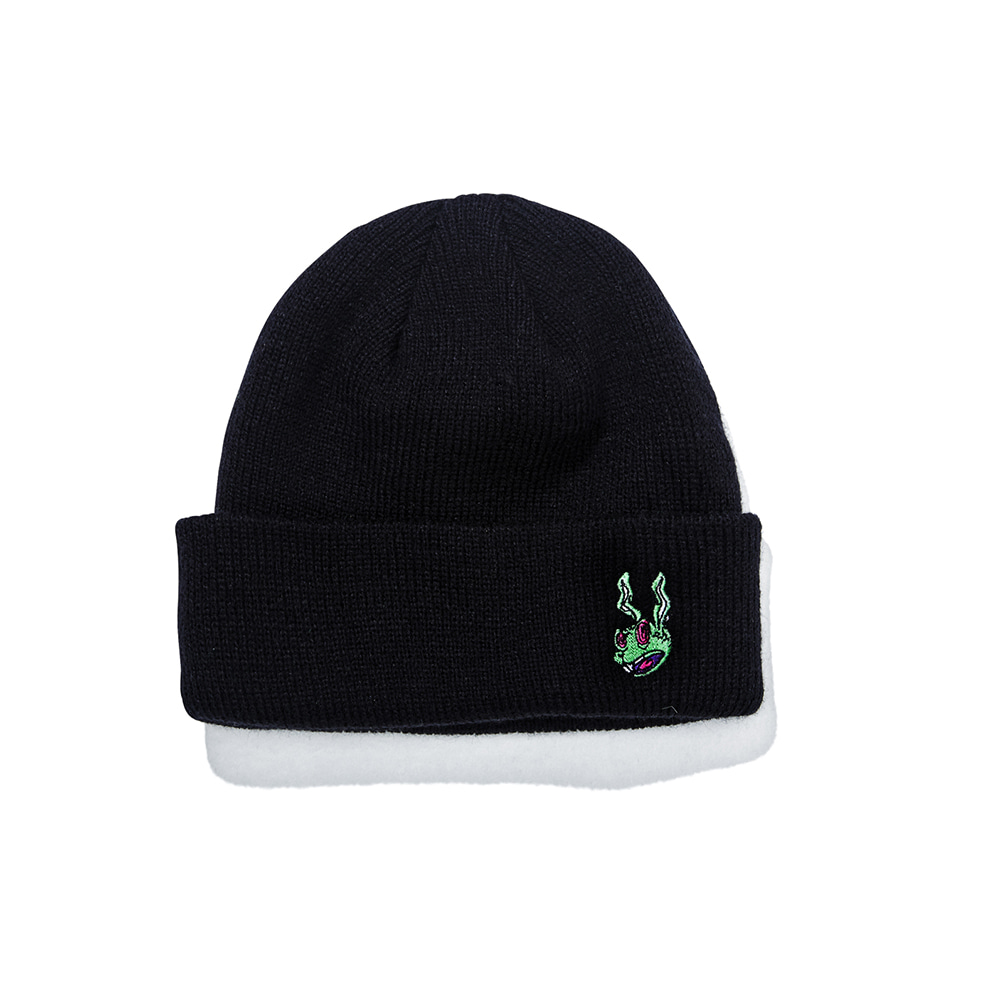 자체브랜드 TRIPPY RABBIT BEANIE BLACK