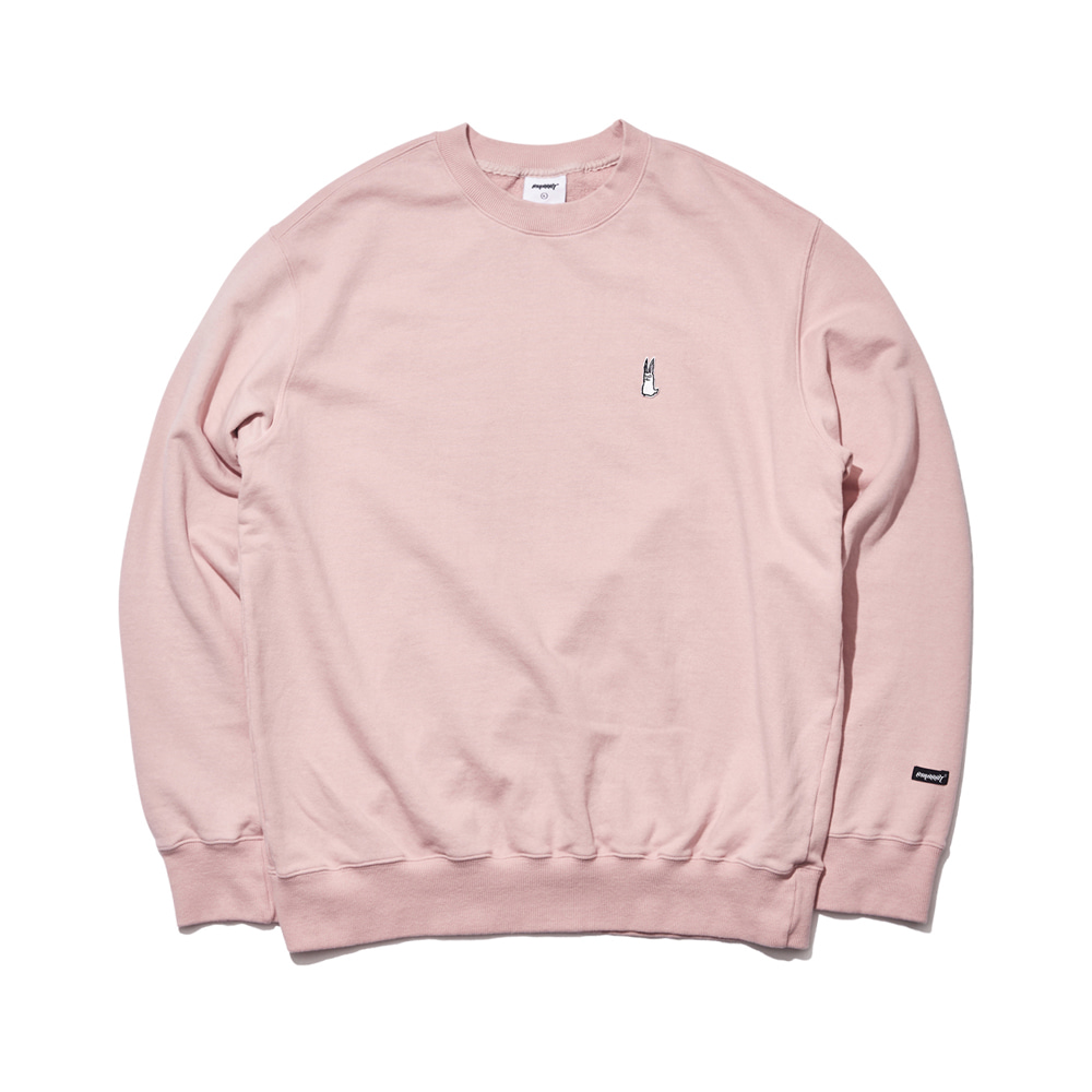 자체브랜드 [기모옵션추가]GR WELCOME DRY SWEAT SHIRT INDIPINK