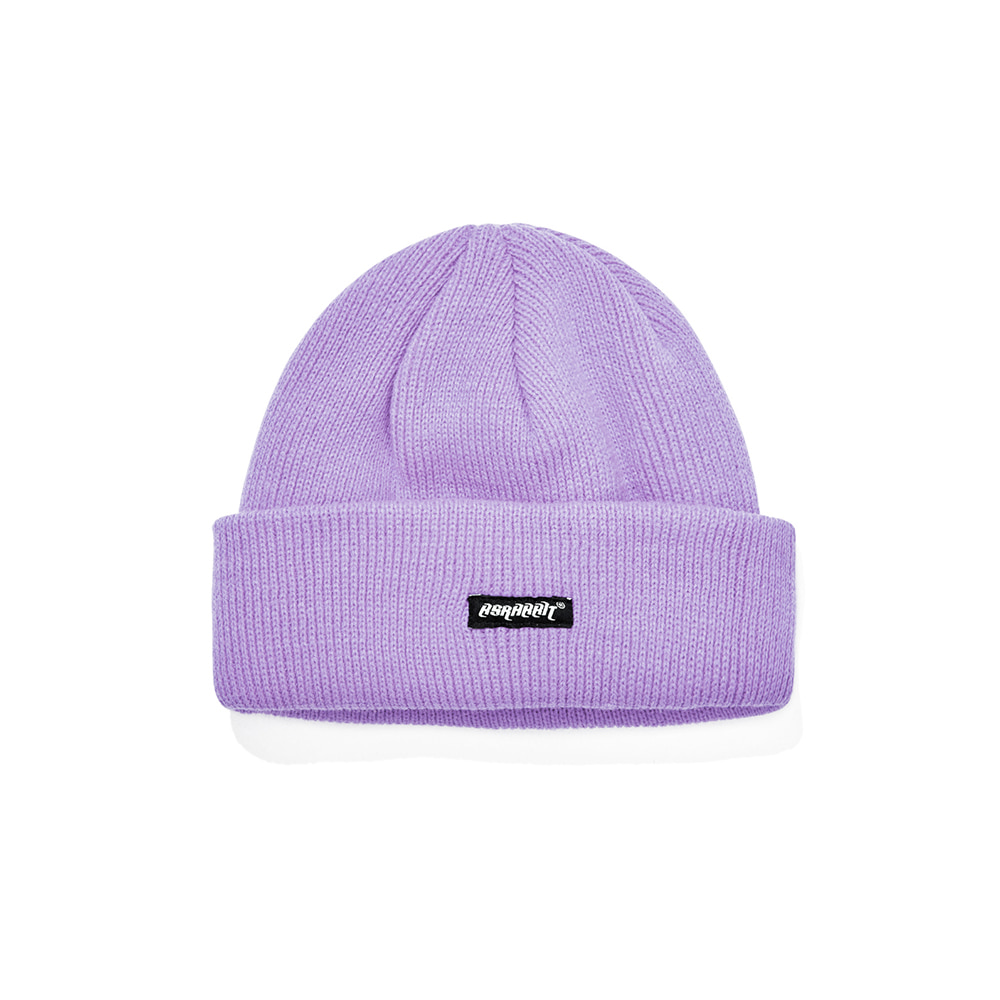 자체브랜드 SPLB BEANIE LIGHT PURPLE