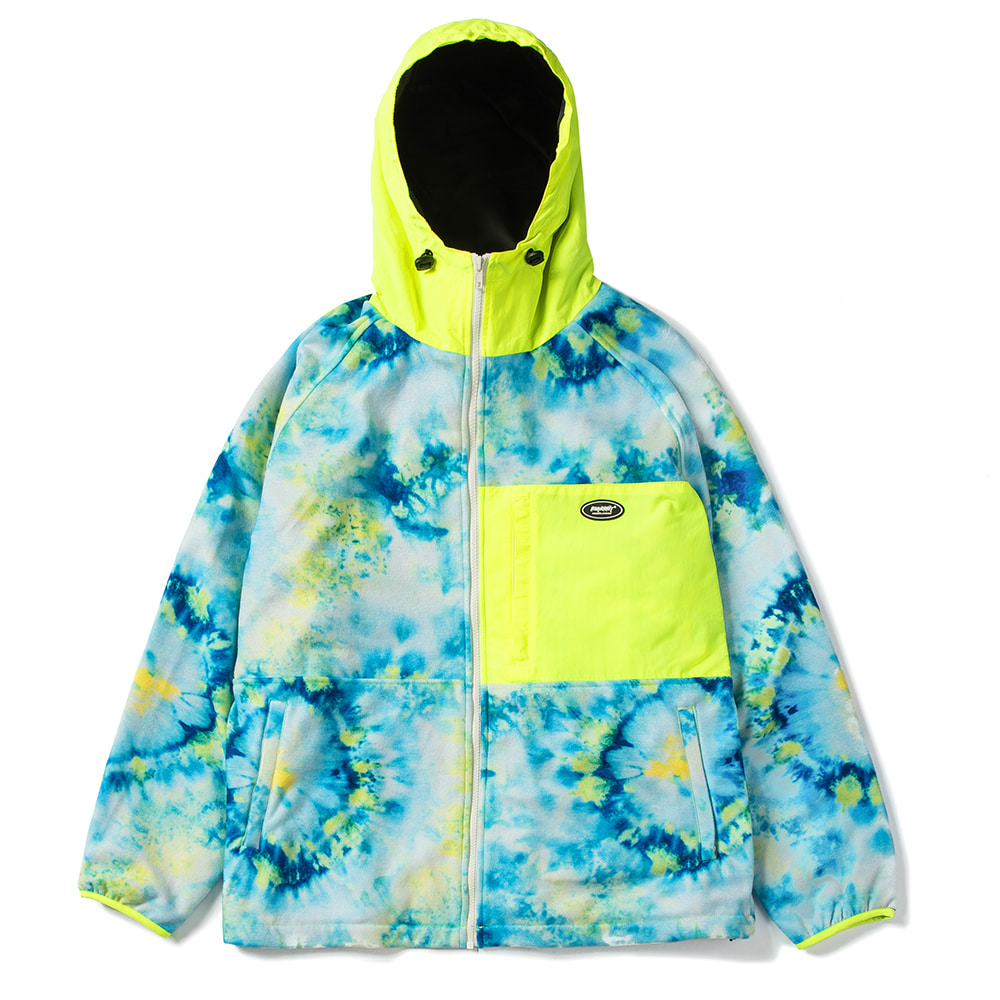 자체브랜드 ROYAL FLEECE JACKET TIE DYE FLUORESCENCE