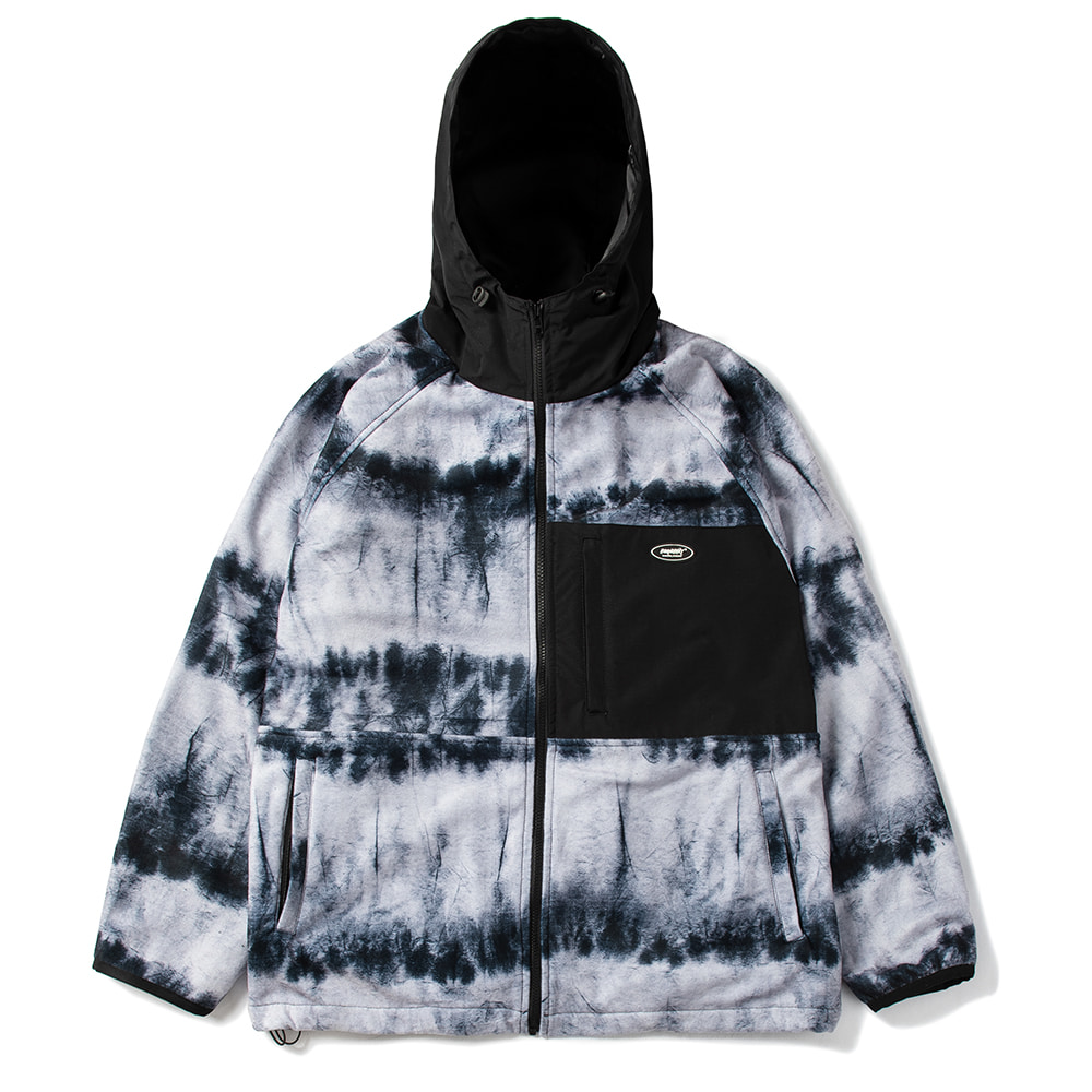 자체브랜드 ROYAL FLEECE JACKET TIE DYE BLACK