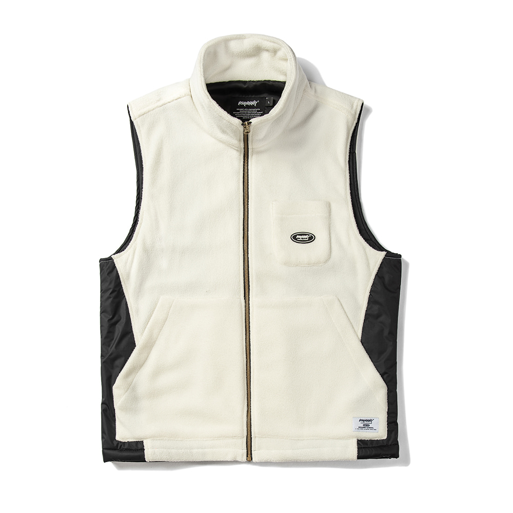 자체브랜드 B714 FLEECE VEST WHITE