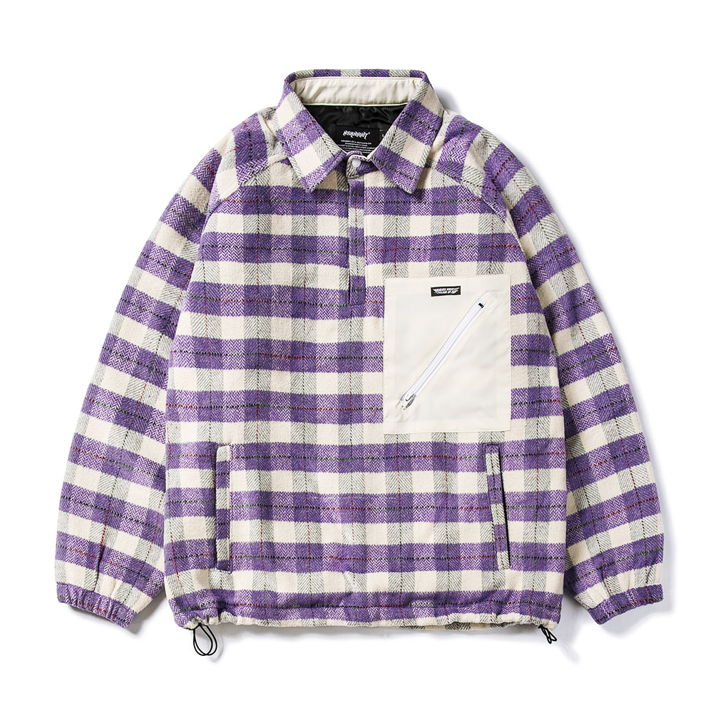 자체브랜드 BETTER THAN CHECK ANORAK SHIRT PURPLE CHECK