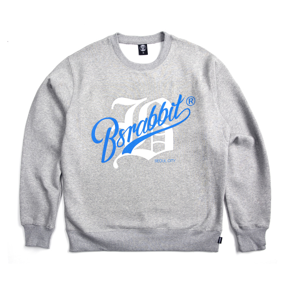 자체브랜드 BIG LOGO SWEAT SHIRT GRAY